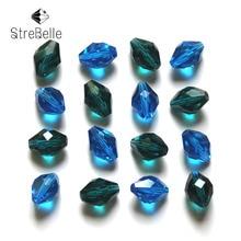 100pcs/lot 11x8mm 34fa Decorative Crystal Beads Wholesale Jewelry Making Cloth Accessory Loose DIY