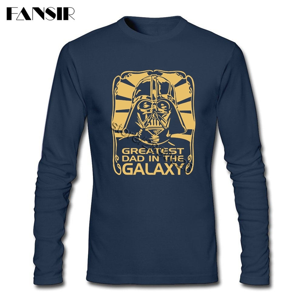 27b5d92e Men Shirt Long Sleeve CrewNeck Cotton Greatest Dad In The Galaxy Star Wars  New Designing Tee Shirts Men-in T-Shirts from Men's Clothing on  Aliexpress.com ...