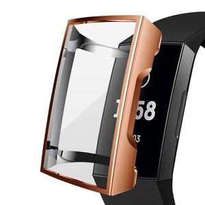 Image 4 - Funda de silicona para Fitbit Charge 3, funda protectora de TPU, accesorios de repuesto