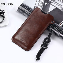 SZLHRSD for Blackview P6000 5 5inch Mobile Phone Bag Case Hot selling slim sleeve pouch cover + Lanyard(China)