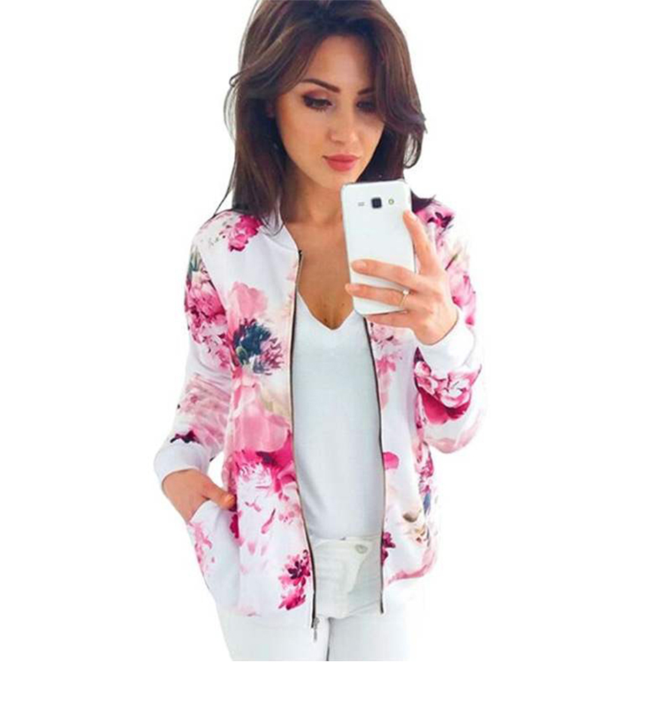HTB1M3KGTmzqK1RjSZPcq6zTepXaW Plus Size Printed Bomber Jacket Women Pockets Zipper Long Sleeve Coat Female Flower Chiffon White Jacket Woman Spring 2019