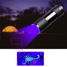 YAGE YG-340C Flashlight Mini UV LED uf Violet Light 9 Torch Lamp for AAA Battery Ultraviolet flashlight