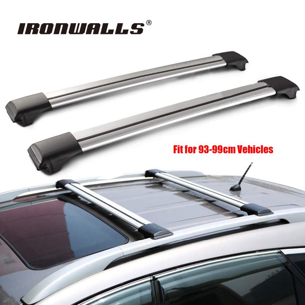 Universal 1x Car Roof Rack Cross Bar 93cm~99cmTop Luggage Cargo With Lock  System For
