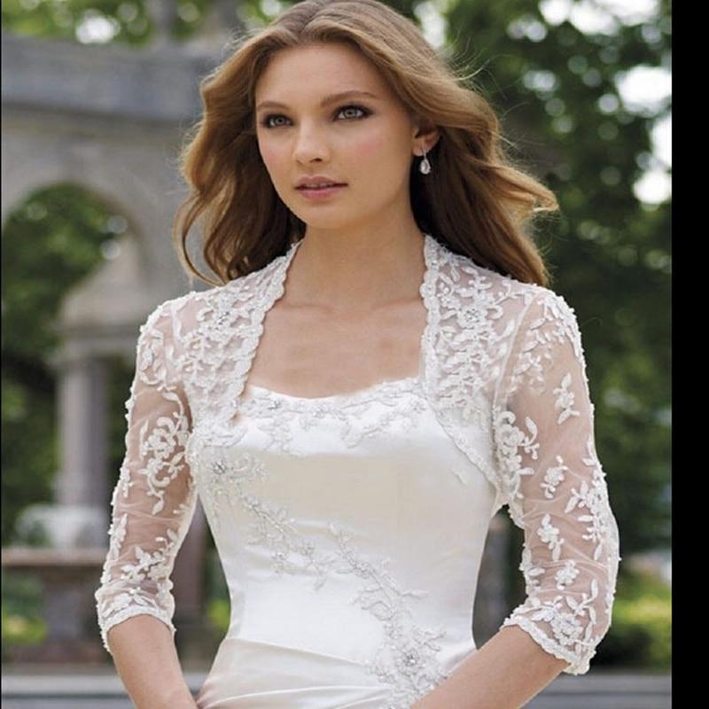 vestidos de novia con chaqueta de encaje – vestidos de boda
