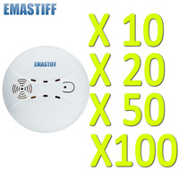 Free Shipping Wholesale 10 20 50 100 Pcs Wireless Smoke Fire Detector Sensor 433MHz 1527 Just