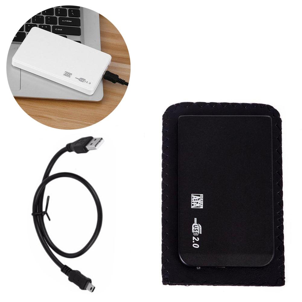 2.5 Inch External Enclosure for Hard Drive Disk USB 2.0 SATA HDD Portable Case Sata Support 2TB Hdd Hard Drive With USB Cable high speed usb 2 0 hard disk drive enclosure case for 2 5 sata hdd white max 2tb