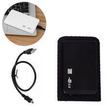 2,5 «дюймовый внешний корпус для жесткого диска USB 2,0 SATA HDD портативный корпус Sata Поддержка жесткого диска 2 ТБ с usb-кабелем
