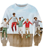 One Direction Crewneck Sweatshirt Englisch-Irish pop boygroup 1D lebendige jumper Frauen Männer Schweiß Charts Modekleidung Plus größe