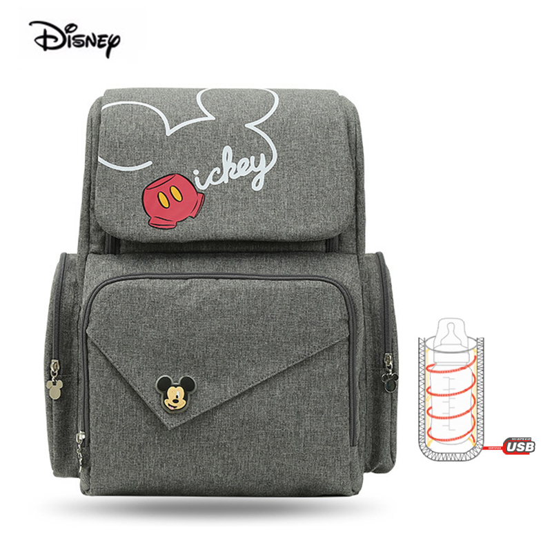 Disney 2019 New Fashion Waterproof Diaper Backpack Multifunctional Oxford Maternity Mother Bag For Nappies Baby Bag