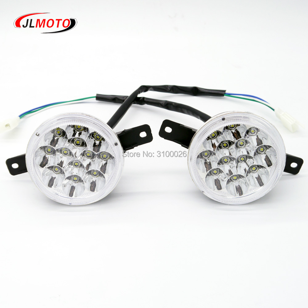 1Pair/2pcs LED Front Light of Jinling 110cc 150cc 200cc ATV Quad Bike JLA-13T-2 JLA-13-10 ArmadA ATV150B Parts