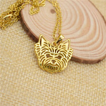 LPHZQH fashion cartoon Boho Chi Yorkshire Terrier dog necklace pendant for Women choker necklace Collares Jewelry Christmas gift