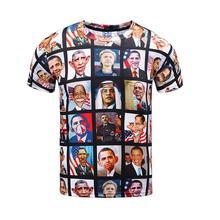 President 3d Print Funny Tshirt Slim Hip Hop Men Women Space Skate Harajuku Novelty Trasher Punk Rock Hipster Clothing undefined