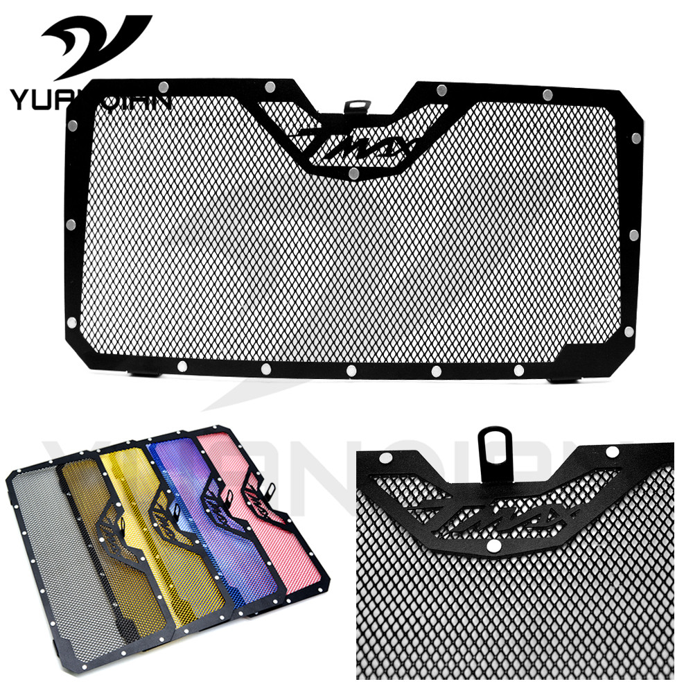 Black Motorcycle Accessories Engine Radiator Bezel Grille Guard  Protector Grill Cover For Yamaha Tmax530 2012-2016 chrome motorcycle accessories engine radiator bezel grille protector grille guard cover for kawasaki z900 2017