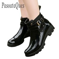 Rubber Shoes Women Rain Boots For Girls Ladies Casual Walking Waterproof Rubber Shoes Winter Fall Ankle