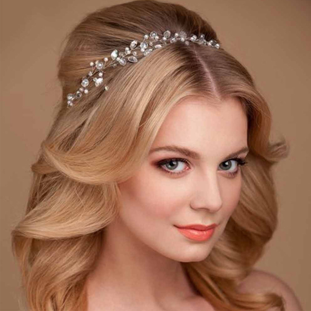 Trendy Kristall Haar Ornamente Dekoration Hochzeit Stirnbander