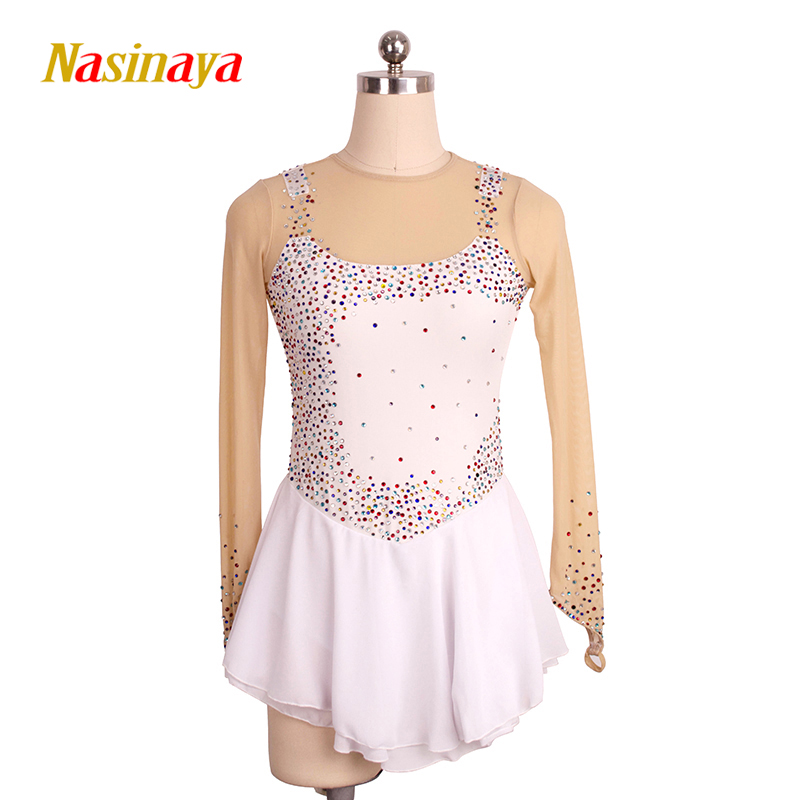 Nasinaya Figure Skating Dress Customized Competition Ice Skating Skirt for Girl Women Kids Patinaje Gymnastics Performance 111 figure skating clothing black ice skating dress custome hot sale girls skating suit absorb sweat washable spandex dance wear
