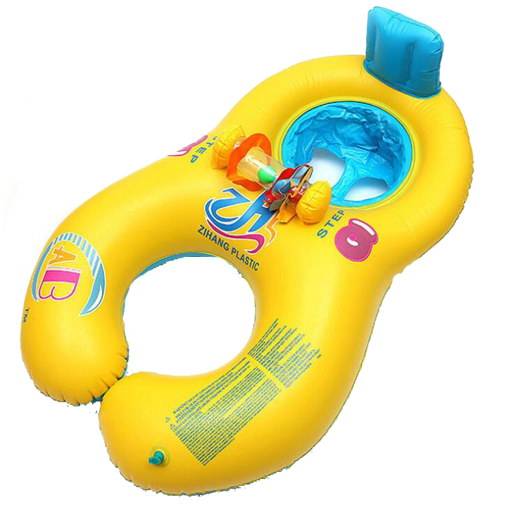 Parent-child double interactive mother-child circle Multicolor inflatable childrens swimming ring Pool & Accessories