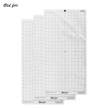 5pcs Replacement Cutting Mat Transparent Adhesive Mat with Measuring Grid 12 * 12 Inch for Silhouette Cameo Plotter Machine - DISCOUNT ITEM  15 OFF Education & Office Supplies