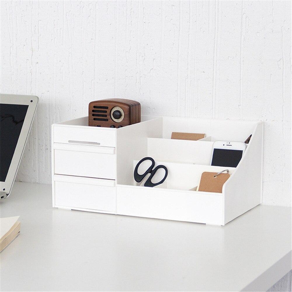 Minimalist Plastic Storage Drawer New White Desk Storage Drawer Box Organizer Sundries Cosmetics Container for Home Office Decor drawer