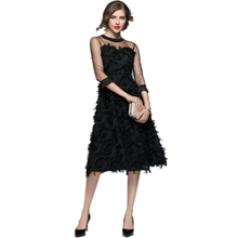 Women Sexy Party Dress Fashion Evening Clothes Casual Elegant Slim Tassel Summer Flapper Mesh Vestido 1920s Vintage O-neck