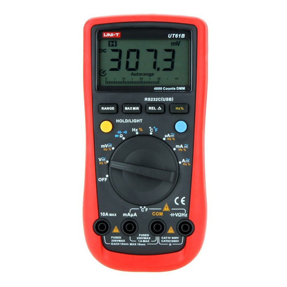 UNI-T UT61B Digital multimeter true RMS RS232 interface MULTIMETER Auto range with LCD backlight display цена