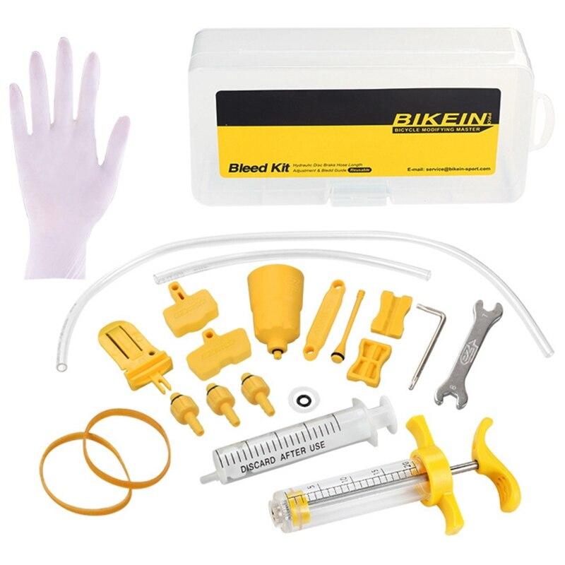 BIKEIN PRO Ez Bicycle Hydraulic Brake Bleed Tool Kit For Shimano & Tektro & Magura Mt Seires Brake System Use Mineral Oil Brak