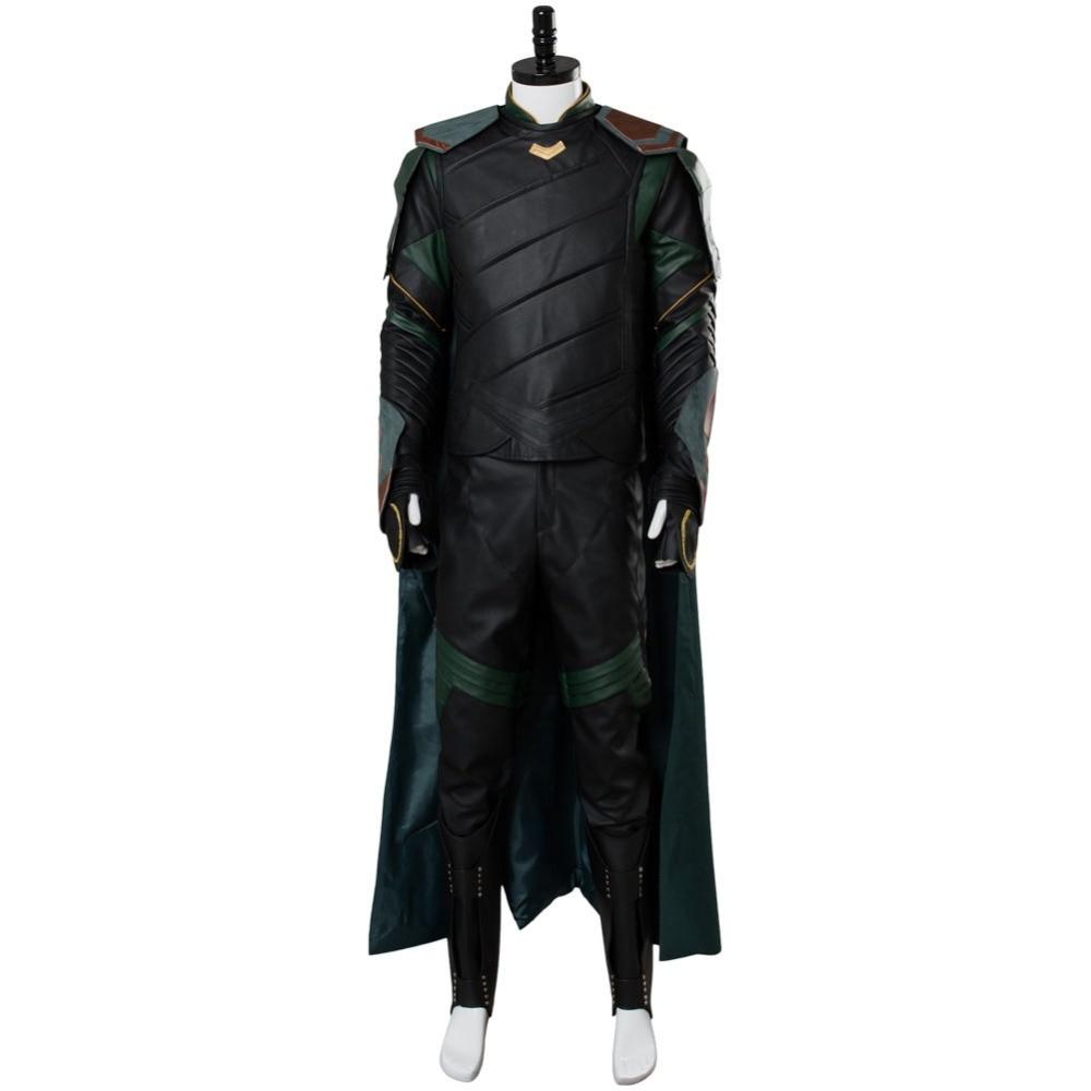 Thor 3 Ragnarok Loki Cosplay Costume Adulte Hommes Loki Costume Ensembles Complets Cosplay Costume Outfit Halloween Carnaval Costume