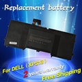 Bateria do portátil 0 drrp jigu 0n7t6 5k9cp 90v7w din02 jd25g jhxpy rwt1r para dell xps 13