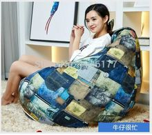 Ywxuege Living Room Sofas cowboy busy design Bean Bag Sofa Linen Cotton Soft Sofa Bed Suit For Bed