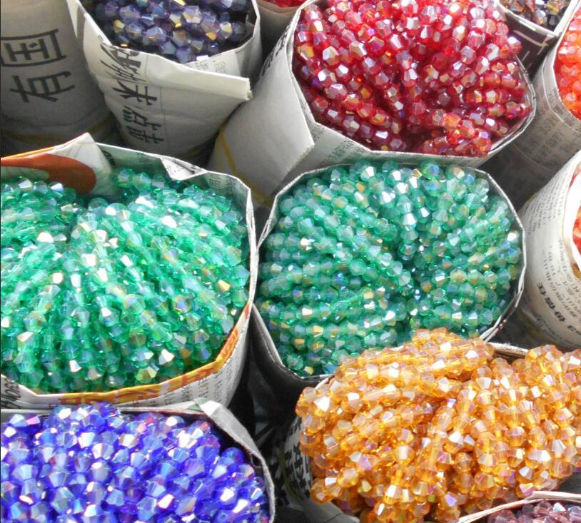 4 мм 110 шт. AB цвета Bicone Свободные Spacer Бусины стекло кристалл ограненные кружки бисера для изготовления ювелирных изделий