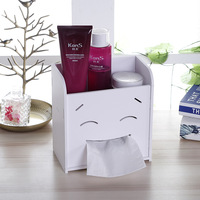 Creative Smile Cosmetics Mobile Phone Storage Box Multifunction Home Living Room Desktop Cosmetics Tools Paper Towel Storage Box