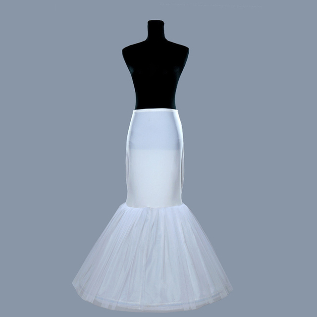 a9d4442d56ef One Hoop Lycra Waist Fishtail Mermaid Wedding Slip Cocktail Bridal Petticoat  Underskirt
