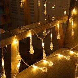 5 M 20 LED kropla deszczu boże narodzenie światła led MultiColor zewnętrznych źródeł światła na zewnątrz ogród Patio Party boże narodzenie MultiColor w Girlandy świetlne od Lampy i oświetlenie na