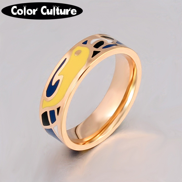 US $2 73 40% OFF|Aliexpress com : Buy Dubai Jewelry New Design Style  Ceramic Ring Colorful Ring Stainless Steel Gold color Plated Mom gift  pcjz037