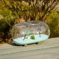 O.RoseLif Brand Transparent Glass Hanging Hanging FlowerGlass Vase Planter Terrarium Container Vases Pot Wedding Decoration