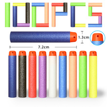 100PCS Hollow Hole Head 7.2cm Refill Dart Toy Gun Series Bullets for Nerf Soft Gun Accessories Blaster Kid Shooting Game Gift