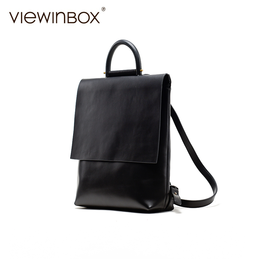 a422cbd1bfb8 Viewinbox Designer Brand School Bags Leather Backpack High Quality Women  Leather Backpacks Casual Backpack For Teenage Girls -in Backpacks from  Luggage ...