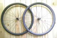 DEERACE 1423G 38MM X 23MM 700C CARBON ROAD DISC/CYCLOCROSS CX CLINCHER BIKE WHEELS BICYCLE WHEELSET TUBELESS READY
