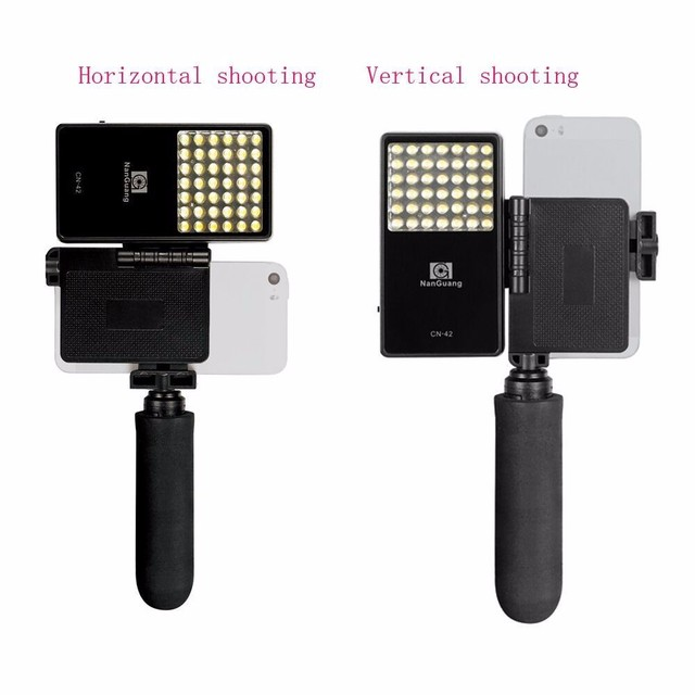 Nanguang CN-42 2.5W 222LM Cellphone selfie portable Photography LED Light Panel Lighting for iPhone Sumsung Sony Phone