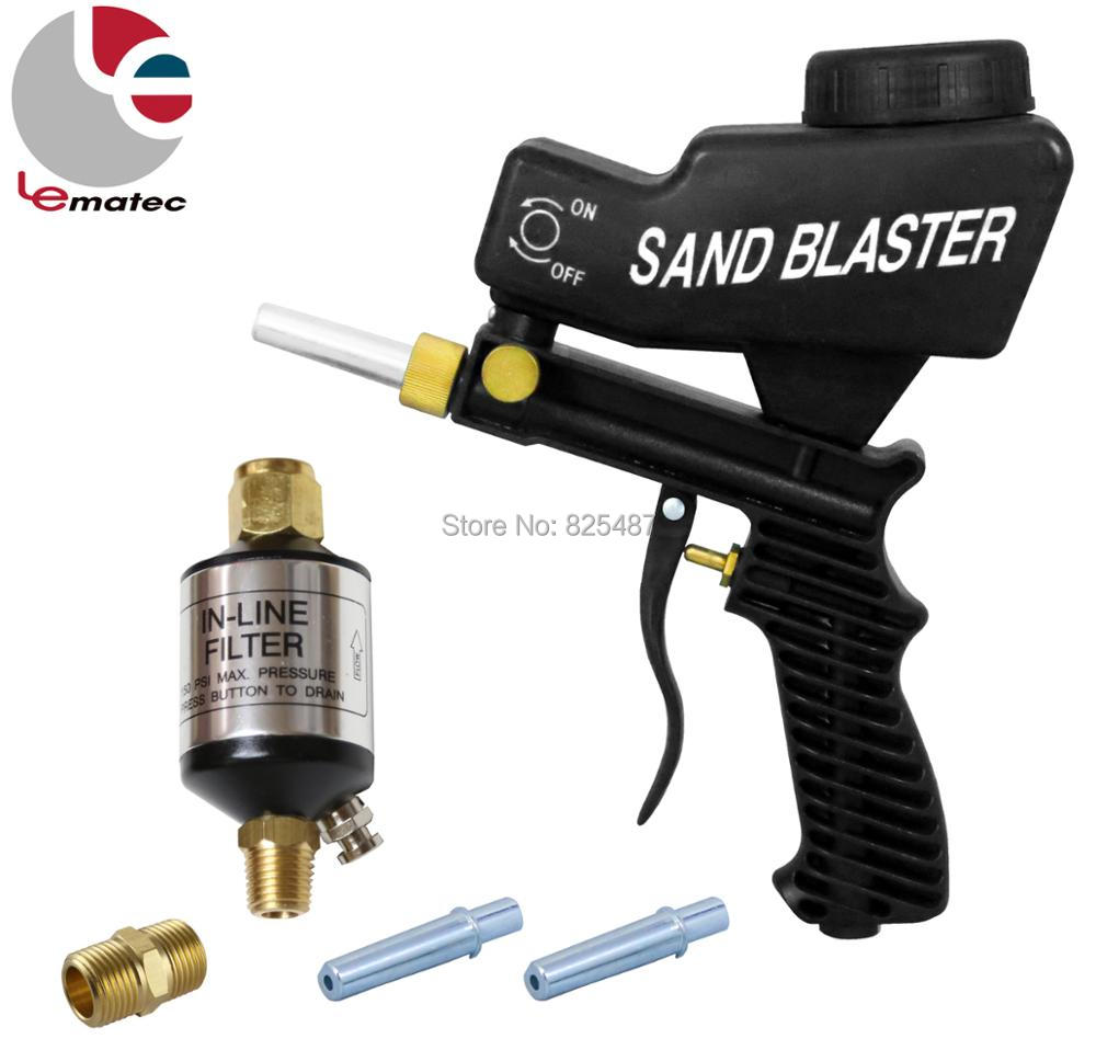 LEMATEC Sandblasting Gun Kits With 1 4 Air Filter Oil Water Separator Air Sandblast Spray Gun