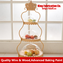 Continental fruit cake stand plate wrought-iron cake stand multi-fruit bowl