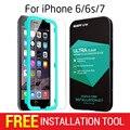 Protector de pantalla para iphone 6 6 s 7 plus, esr 1 unid triple fuerza protector de vidrio templado con el aplicador para iphone 7 6sp
