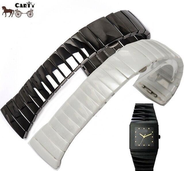 Купить керамический браслет белый для часов купить мусульманские наручные часы