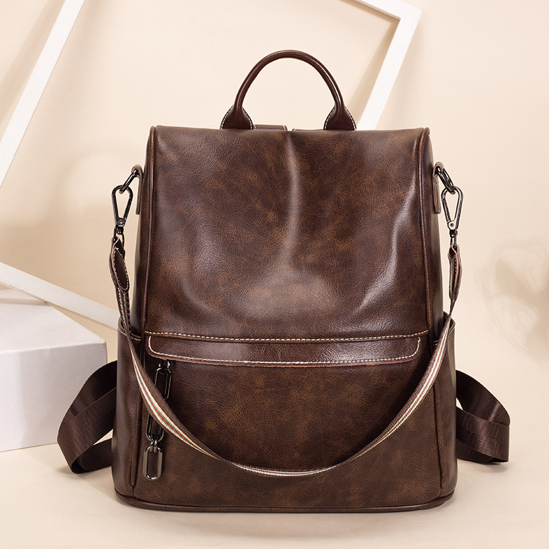 2019 Retro Luxury Genuine Leather Backpack Bags For Women Designer Anti Theft Backpacks Women High Quality Ladies Rucksacks