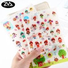 6pcs/lot Cartoon transparent sticker child PVC sticker diy decoration sticker for album scrapbooking kawaii stationery Paste недорого