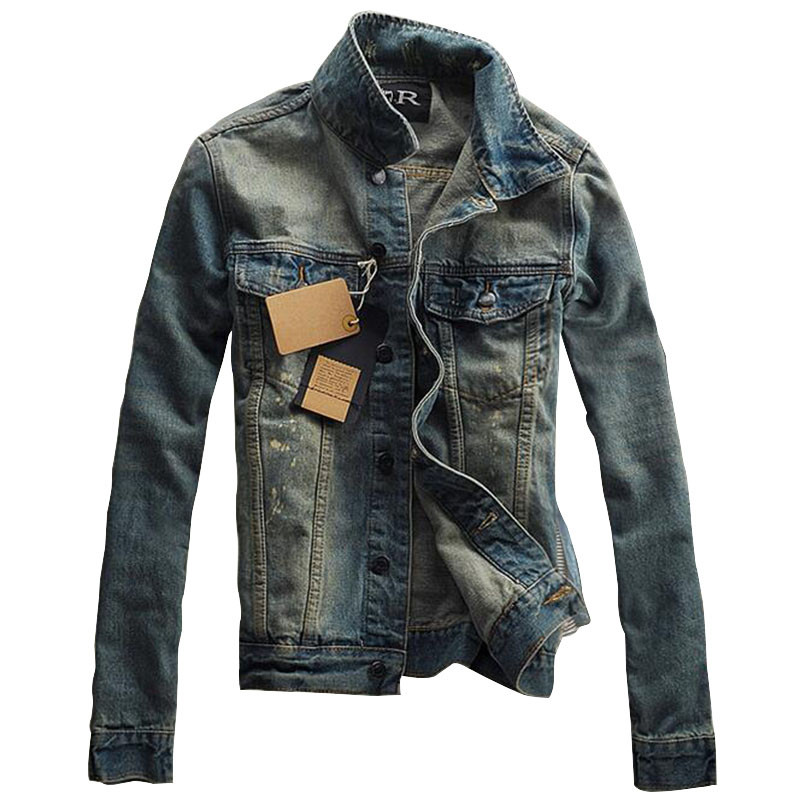 Mens Designer Denim Jacket - Coat Nj