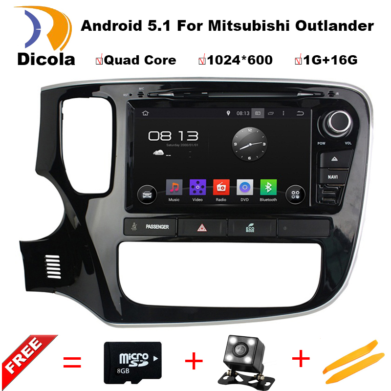 imágenes para 1024*600 quad core android 5.11 para mitsubishi outlander 2014 2015 capacitiva de coches reproductor de dvd gps autoradio audio estéreo cassette