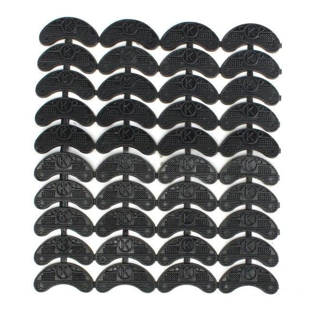 ABDB 40 PCS 20-Paar Rubber Hak Savers Teen Platen Kranen DIY Schoen Reparatie Pads Maat: 56*24*3.1 MM