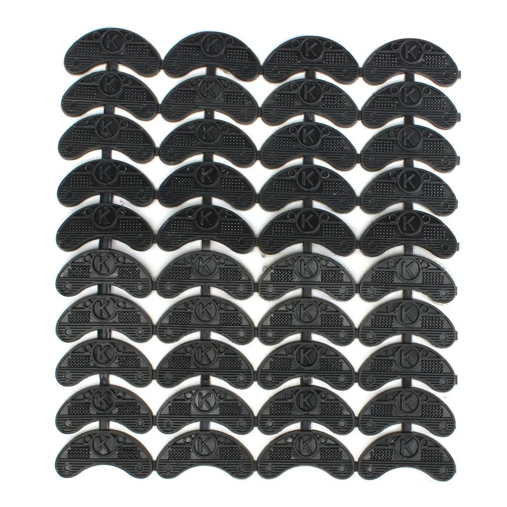 ASDS 40PCS 20-Pair Rubber Heel Savers Toe Plates Taps DIY Shoe Repair Pads Size:56*24*3.1MM