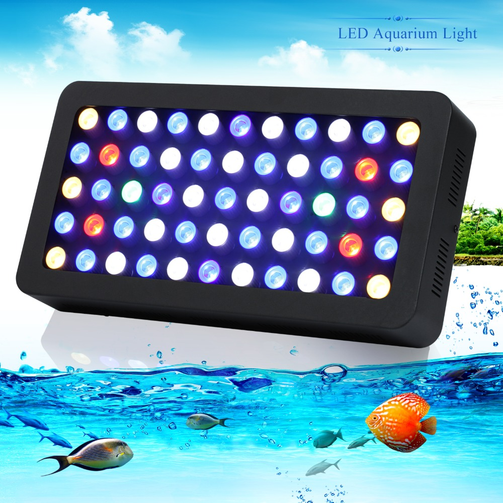 populargrow DE/US stock 165w Dimmable Led Aquarium marine Light  led lighting for Reef Coral Fish Tank Lamp 100% High Quality